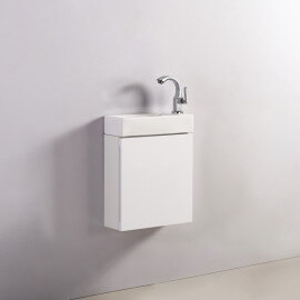 Meuble Lave main - Blanc - City - 38x15 cm - Minimalist