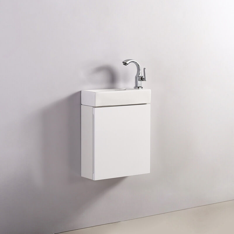 Xinyang Meuble sous Vasque Moderne,Meuble Lave-Mains /à Suspendre avec lavabo Blanc et Bois Clair 2 tiroirs 80cm Meuble de Rangement