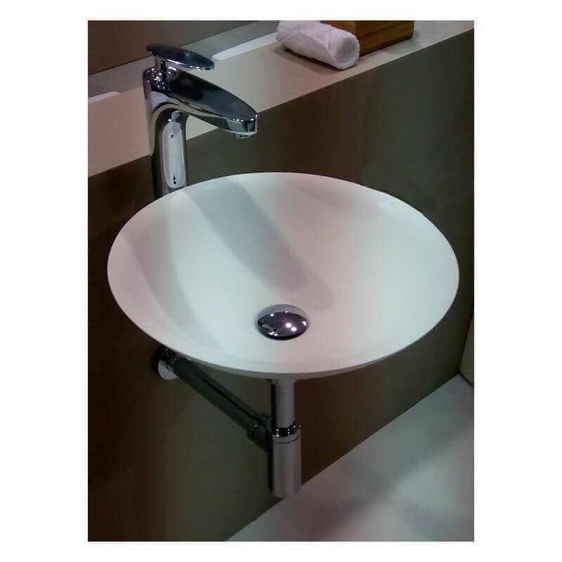 Support de fixation pour suspendre vasque 32x8x8 5 cm inox for Support vasque salle de bain
