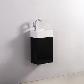 Meuble Lave main - Noir - Dark - 30x18 cm - Essento | Rue du Bain