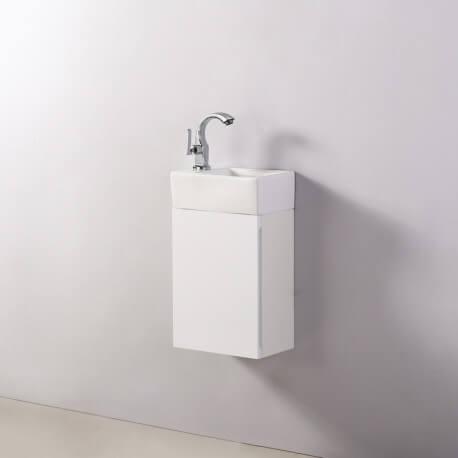 Meuble Lave main - Blanc - City - 30x18 cm - Essento | Rue du Bain
