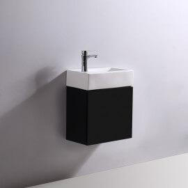 Meuble Lave main - Noir - Dark - 45x24 cm - Studio | Rue du Bain