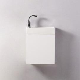Meuble Lave main - Blanc - City - 38x14 cm - Minimalist | Rue du Bain