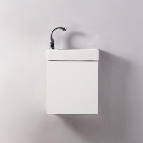 Mai /& Mai Petit Lavabo Suspendu Blanc Vasque en C/éramique Lave Mains WC Salle de Bain BR3053R