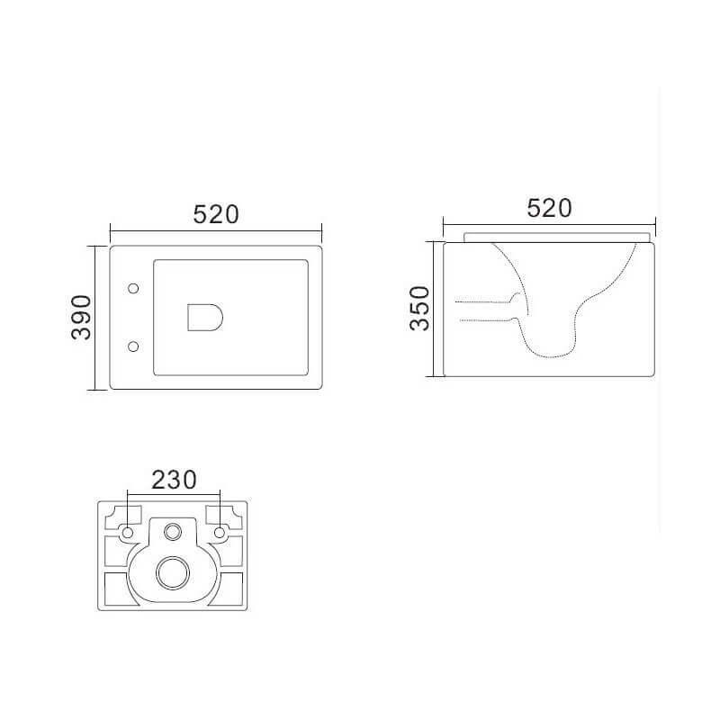 wc suspendu noir wc carr wc suspendu design wc. Black Bedroom Furniture Sets. Home Design Ideas
