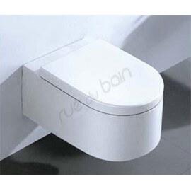 Abattant pour WC Suspendu Blanc en duroplastic - Fashion