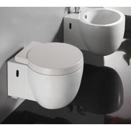Abattant WC Design Suspendu Blanc CHARM
