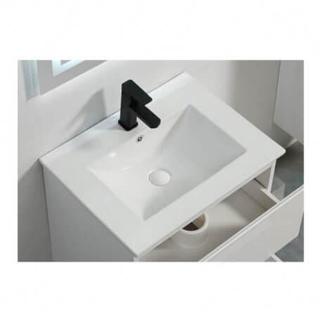 Vasque encastrable céramique blanche - 61x47 cm - City