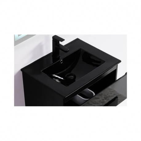 Vasque encastrable céramique noir - 61x47 cm - Dark