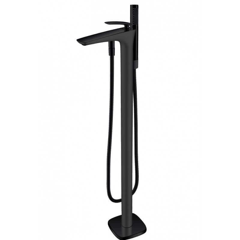 robinet mitigeur de baignoire au sol sur pied noir mat concep 39 t. Black Bedroom Furniture Sets. Home Design Ideas