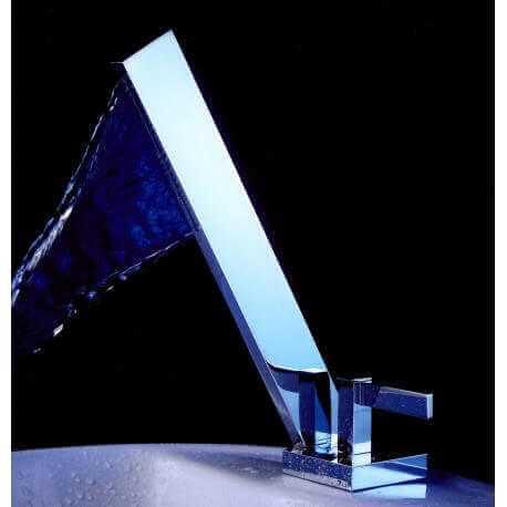 Robinet mitigeur lavabo design cascade - Chromé - Graphic | Rue du Bain
