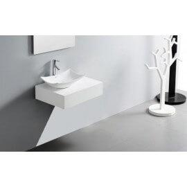 Plan Vasque Salle de Bain Laqué, 60x50 cm, Blanc ou Noir, ARTcolor