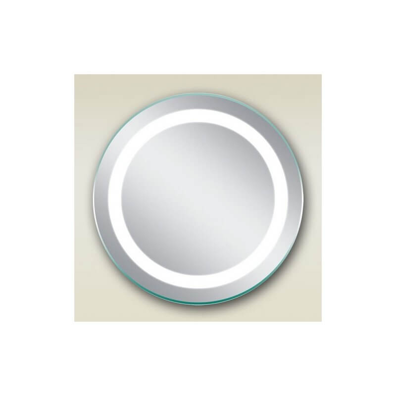 Miroir salle de bain rond 50 cm clairage led allumage for Eclairage led salle de bain