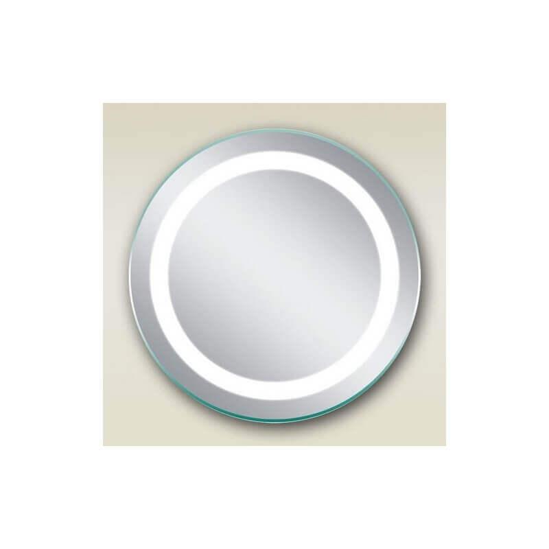 Miroir salle de bain rond 50 cm clairage led allumage for Miroir 50 x 60