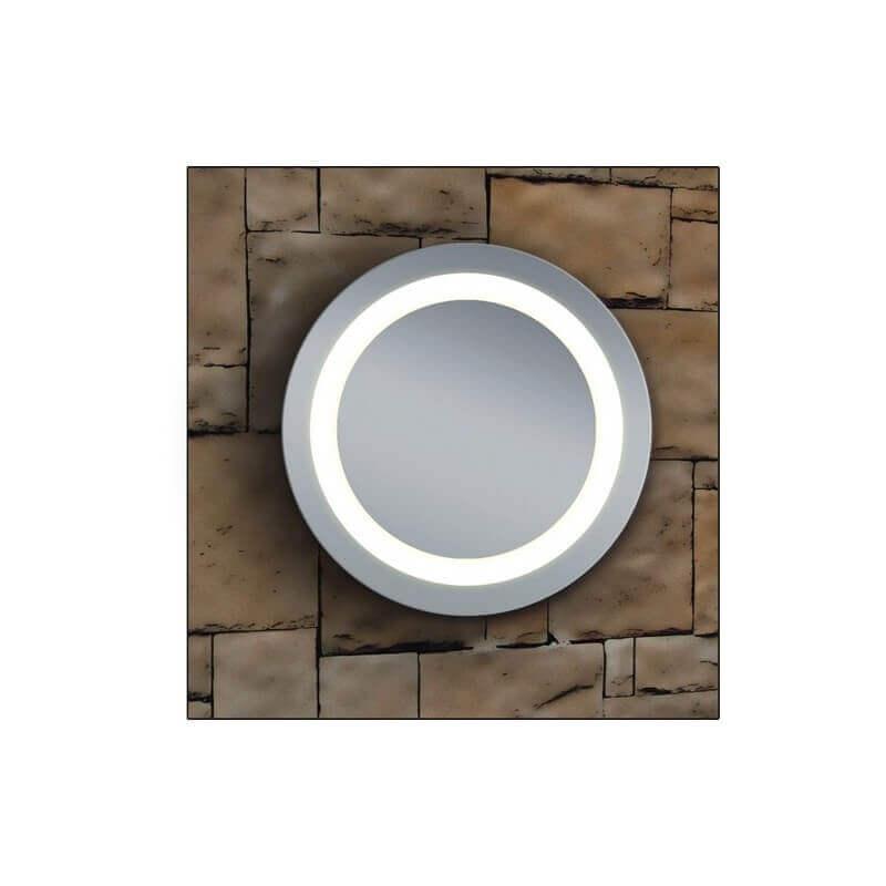 Miroir salle de bain rond 50 cm clairage led allumage for Miroir pour douche