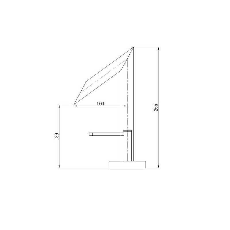 Meuble Sous Lavabo A Poser Hauteur : Robinet mitigeur lavabo design chromé zen rue du bain