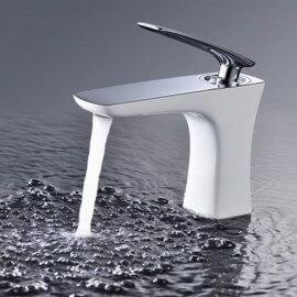 robinet-mitigeur-lavabo-design-blanc-concept